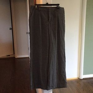 Dark grey wide leg trousers